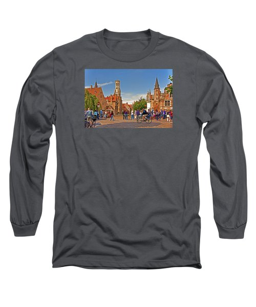 Long Sleeve T-Shirt featuring the photograph Historic Bruges by Dennis Cox WorldViews