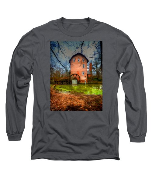 Historic Grist Mill In Hobart, In Long Sleeve T-Shirt