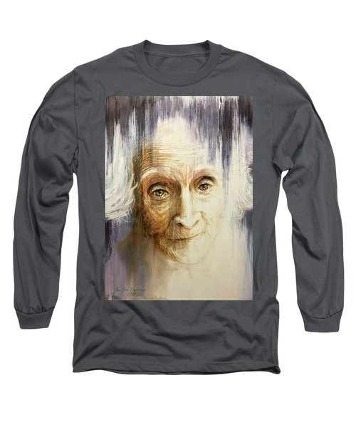 Long Sleeve T-Shirt featuring the painting Histories And Memories Of Ancestral Light 3 by J- J- Espinoza