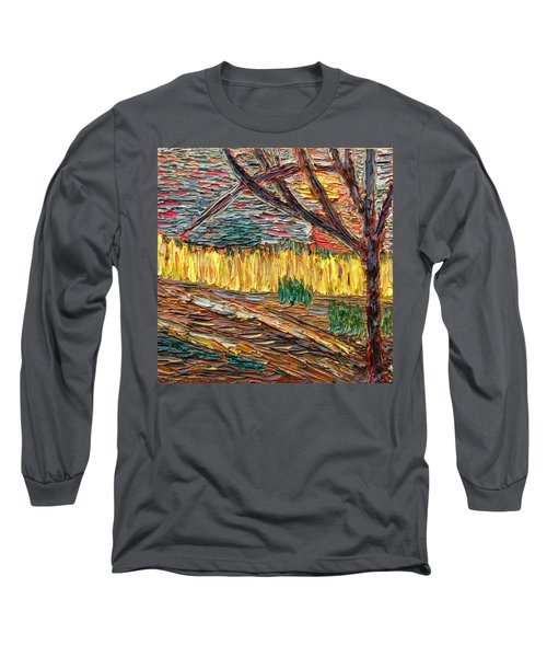 Long Sleeve T-Shirt featuring the painting Hold The Thought Firmly... by Vadim Levin