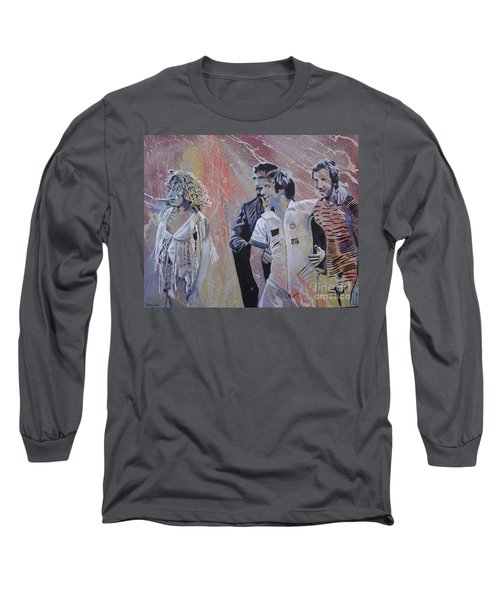 Holding Up The Moon Long Sleeve T-Shirt by Stuart Engel