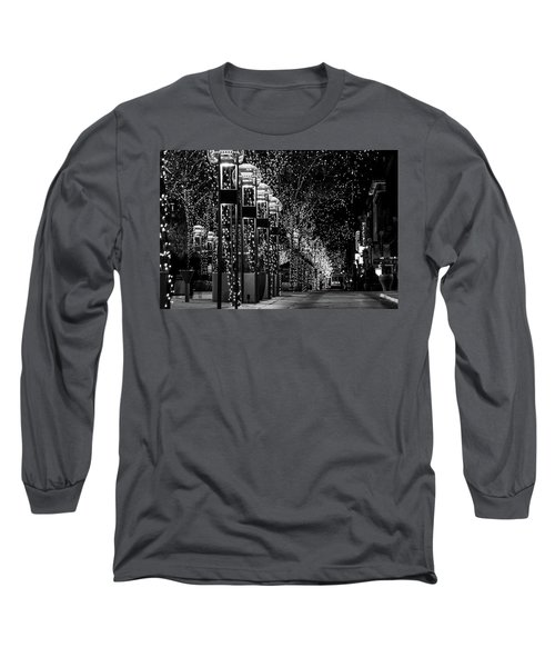 Holiday Lights - 16th Street Mall Long Sleeve T-Shirt