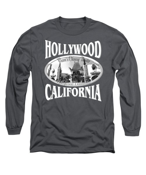 Hollywood California Tshirt Design Long Sleeve T-Shirt by Art America Gallery Peter Potter