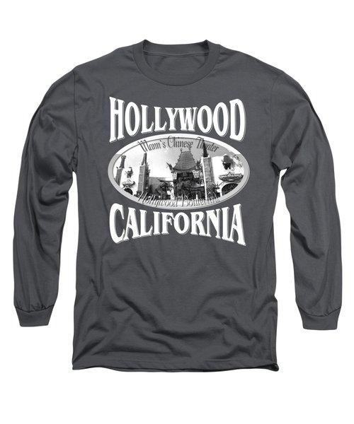Hollywood California Tshirt Design Long Sleeve T-Shirt