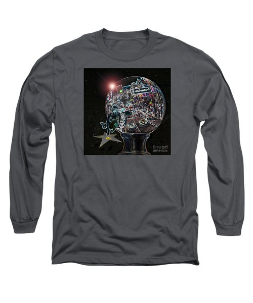 Long Sleeve T-Shirt featuring the photograph Hollywood Dreaming Marilyn's Star by Cheryl Del Toro