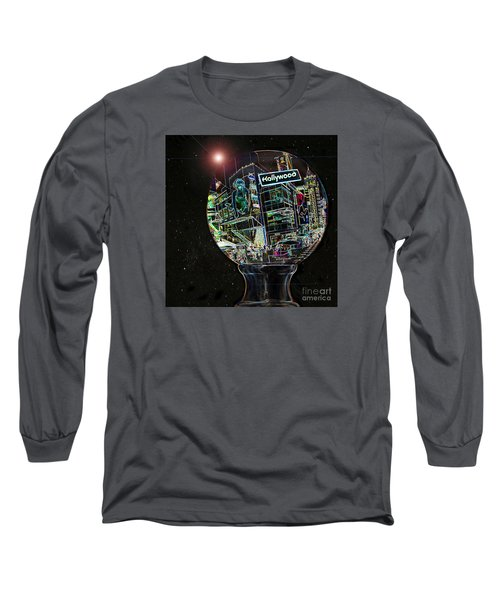 Long Sleeve T-Shirt featuring the photograph Hollywood Dreaming - Walk Of Fame by Cheryl Del Toro