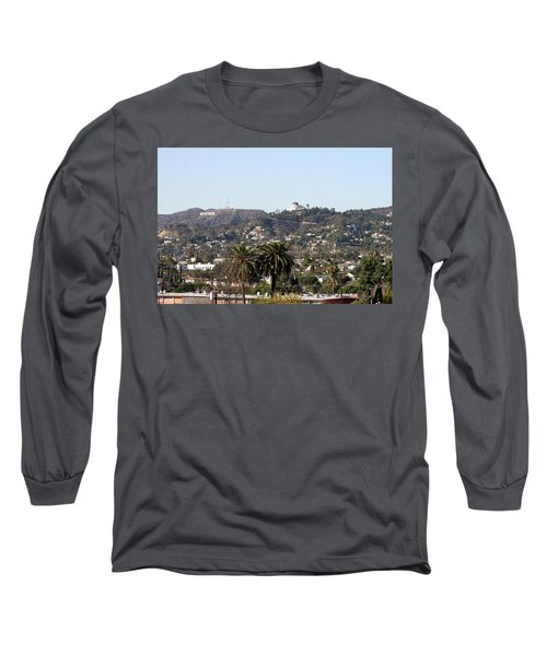 Hollywood Hills From Sunset Blvd Long Sleeve T-Shirt