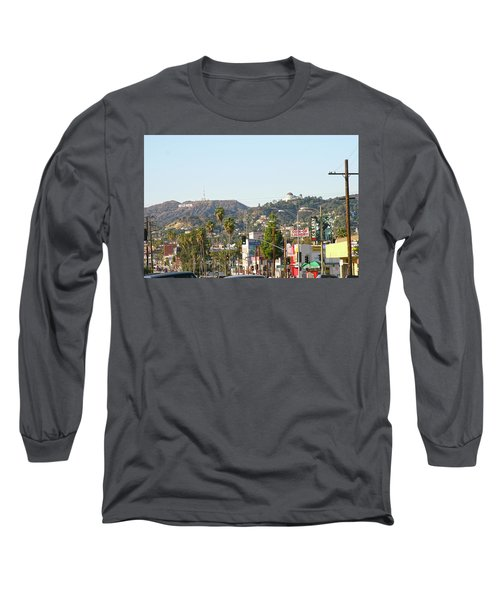 Hollywood Sign Above Sunset Blvd. Long Sleeve T-Shirt