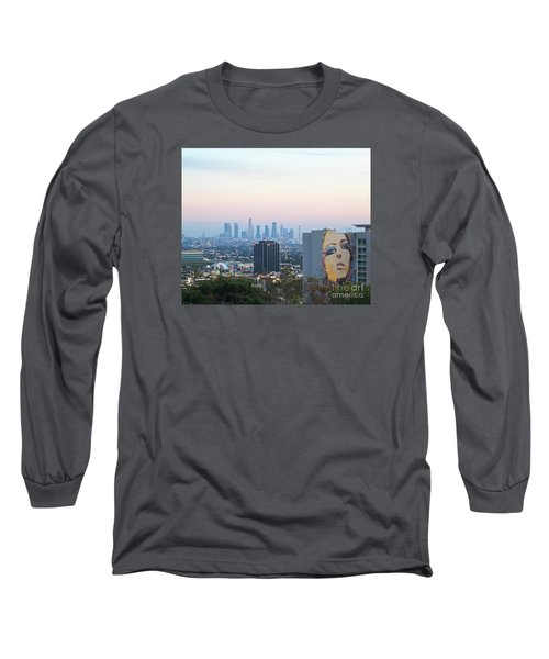 Hollywood View From Yamashiro's Long Sleeve T-Shirt by Cheryl Del Toro