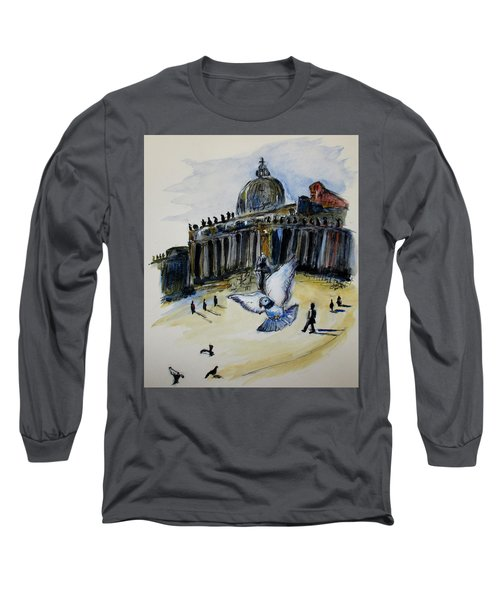 Holy Pigeons Long Sleeve T-Shirt by Clyde J Kell