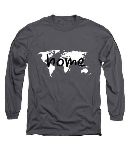 Home 1 Long Sleeve T-Shirt by Paulette B Wright