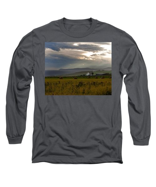 Long Sleeve T-Shirt featuring the photograph Home By The Sea Scotland by Sally Ross