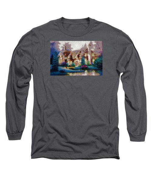 Long Sleeve T-Shirt featuring the painting Home In Paradise by Mario Carini