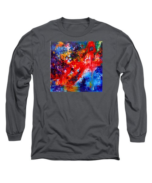 Home Sweet Home. Root Chakra. Series Healing Chakras. Long Sleeve T-Shirt by Helen Kagan