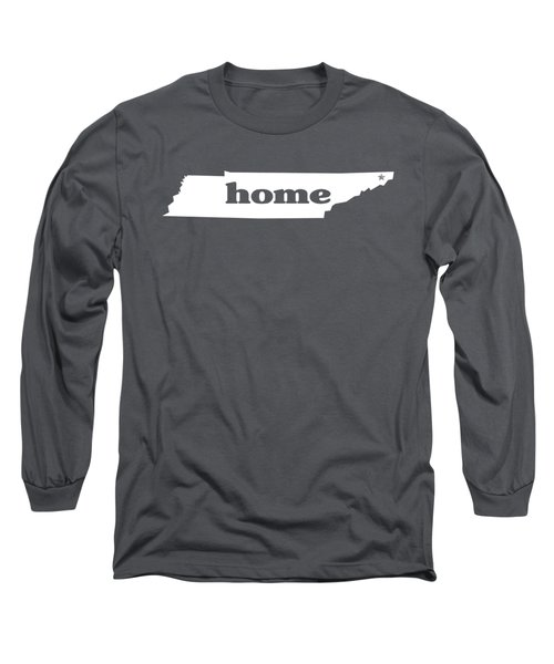 home TN on Green Long Sleeve T-Shirt by Heather Applegate