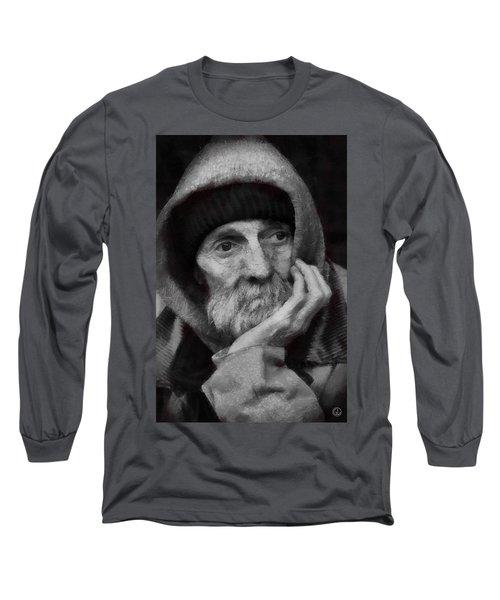 Homeless Long Sleeve T-Shirt by Gun Legler