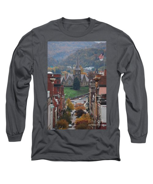 My Hometown Cumberland, Maryland Long Sleeve T-Shirt by Eric Liller