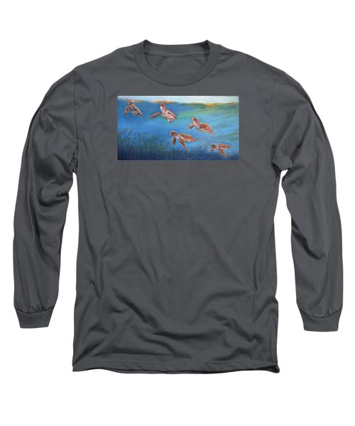Long Sleeve T-Shirt featuring the painting Homeward Bound by Ceci Watson