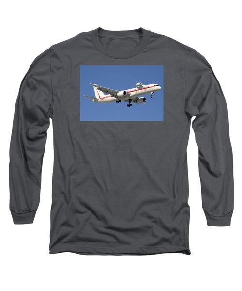Honeywell Boeing 757-225 N757hw Phoenix Sky Harbor December 7 2015 Long Sleeve T-Shirt by Brian Lockett
