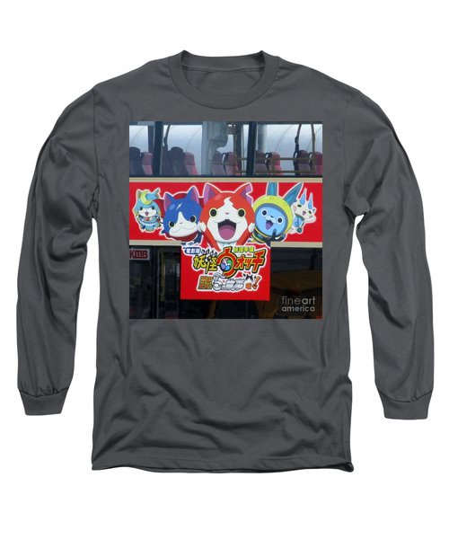 Long Sleeve T-Shirt featuring the photograph Hong Kong Bus by Randall Weidner