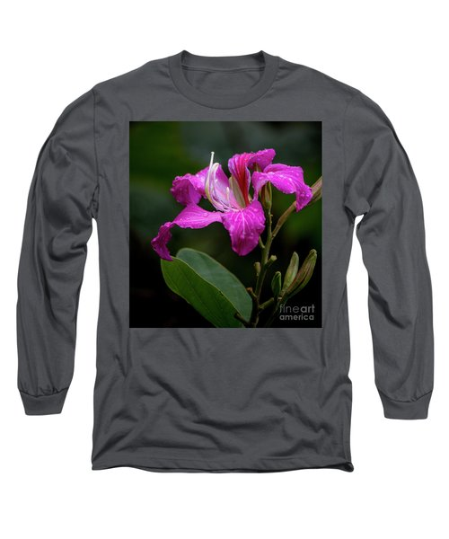 Hong Kong Orchid Long Sleeve T-Shirt