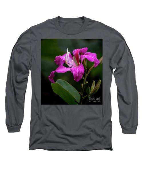 Hong Kong Orchid Long Sleeve T-Shirt