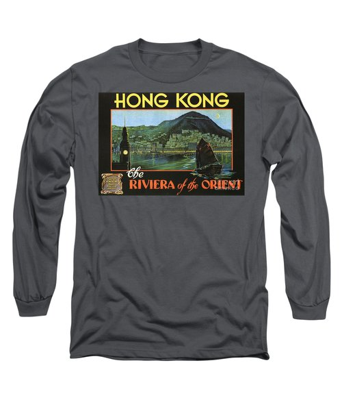 Hong Kong - Riviera Of The Orient Long Sleeve T-Shirt by Roberto Prusso