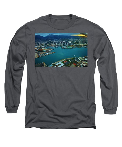 Honolulu Waterfront At Dawn Long Sleeve T-Shirt