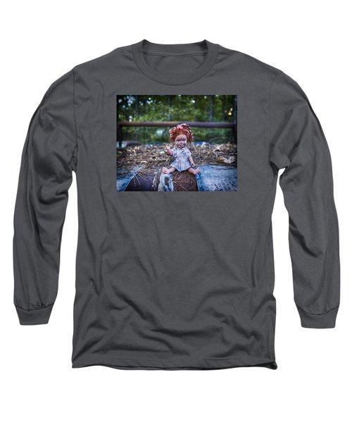 Long Sleeve T-Shirt featuring the photograph Hood Ornament? by Alan Raasch