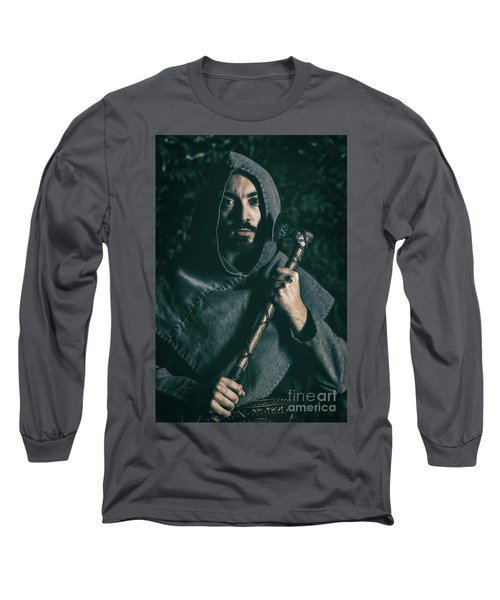 Hooded Man With Axe Long Sleeve T-Shirt