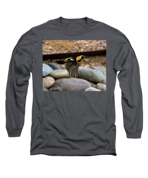 Long Sleeve T-Shirt featuring the photograph Hooded Oriole H37 by Mark Myhaver