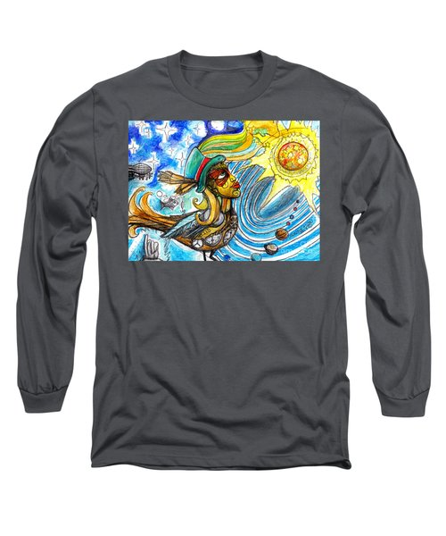 Long Sleeve T-Shirt featuring the painting Hooked By The Worm by Genevieve Esson