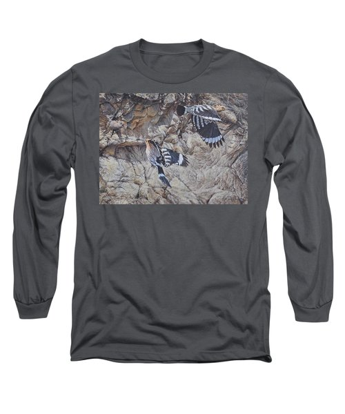 Hoopoes Feeding Long Sleeve T-Shirt
