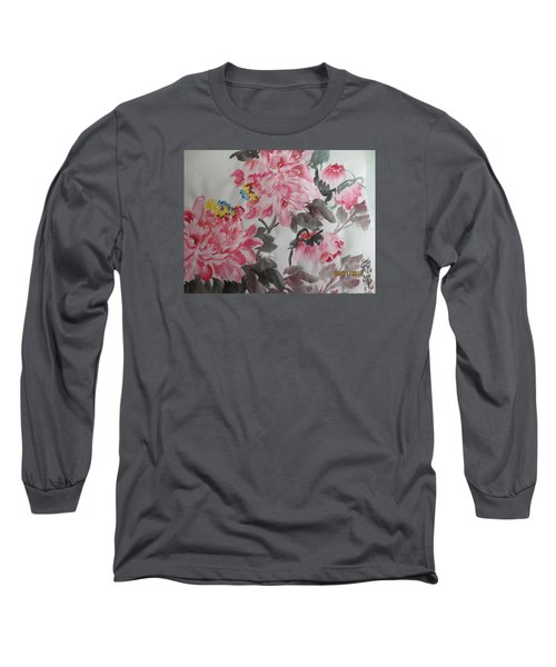 Long Sleeve T-Shirt featuring the painting Hop08012015-691 by Dongling Sun