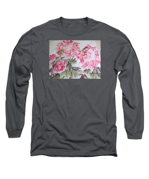 Long Sleeve T-Shirt featuring the painting Hop08012015-692 by Dongling Sun