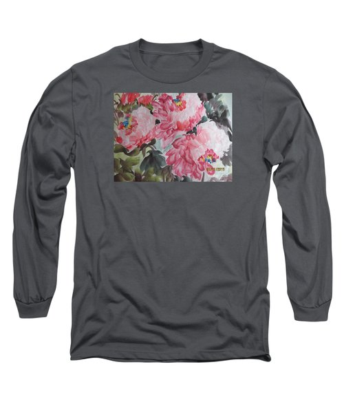 Long Sleeve T-Shirt featuring the painting Hop08012015-695 by Dongling Sun