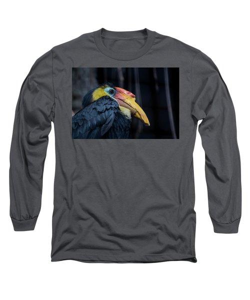 Long Sleeve T-Shirt featuring the photograph Hornbilled Bird by Scott Lyons
