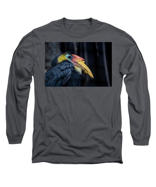 Long Sleeve T-Shirt featuring the photograph Hornbilled Bird by Scott Lyons