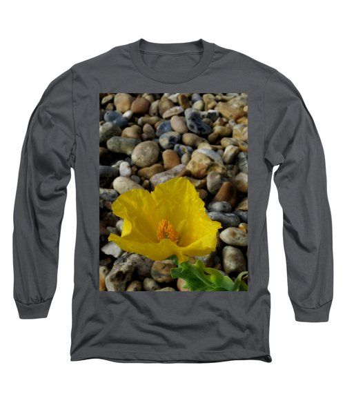 Horned Poppy And Pebbles Long Sleeve T-Shirt