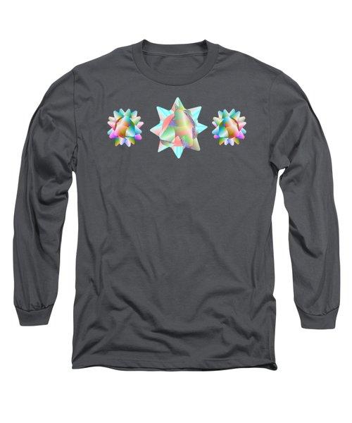 Horse Abstract Ribbon Bow Party Series Long Sleeve T-Shirt
