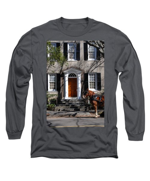 Horse Carriage In Charleston Long Sleeve T-Shirt