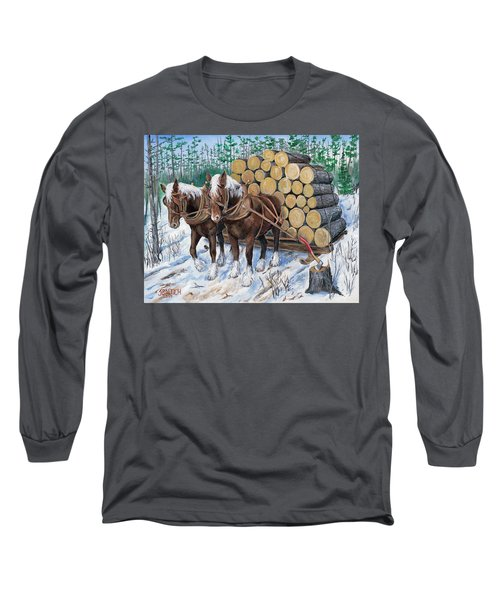 Horse Log Team Long Sleeve T-Shirt