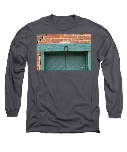Horse Shoe On Old Door Frame Long Sleeve T-Shirt