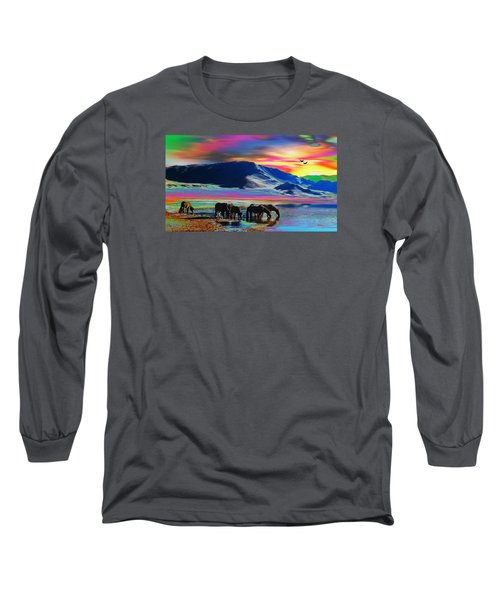 Horse Sunrise Long Sleeve T-Shirt