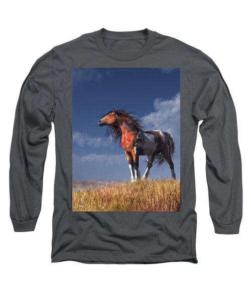 Horse With War Paint Long Sleeve T-Shirt
