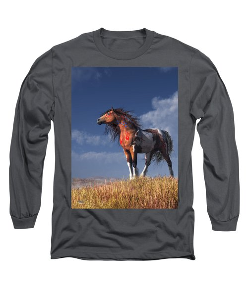 Horse With War Paint Long Sleeve T-Shirt