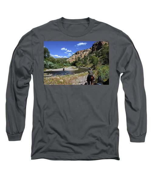 Horseback In The Gila Wilderness Long Sleeve T-Shirt