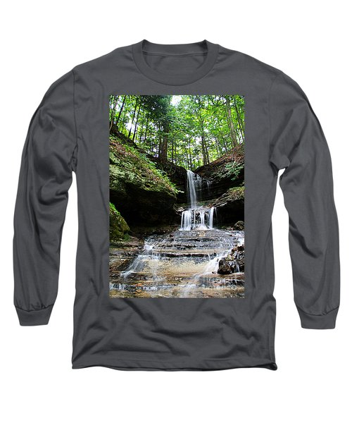 Long Sleeve T-Shirt featuring the photograph Horseshoe Falls #6736 by Mark J Seefeldt