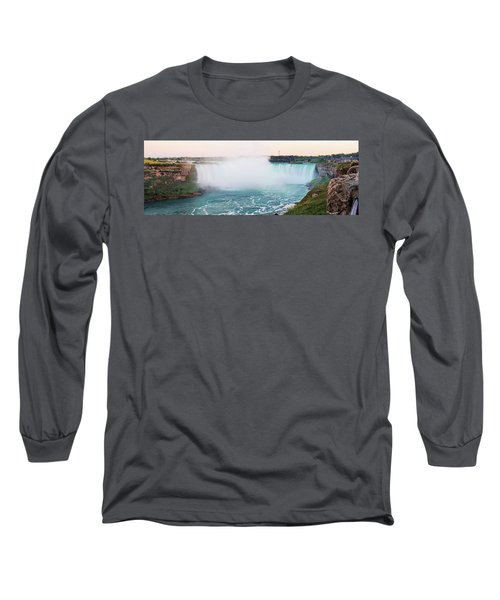 Horseshoe Falls At Dusk Long Sleeve T-Shirt