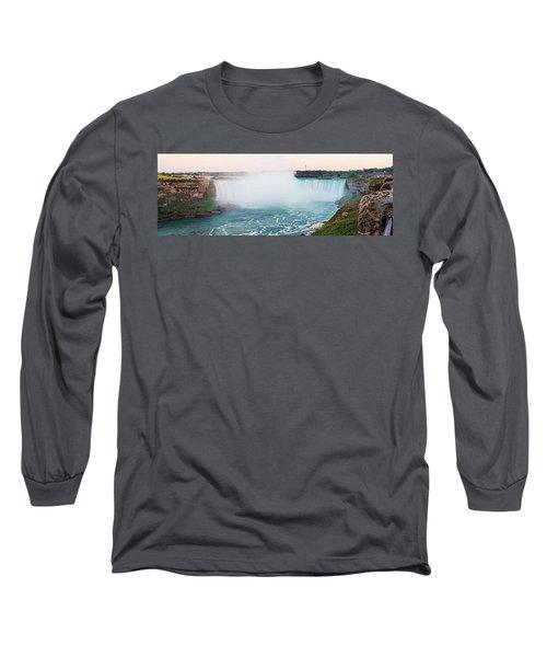 Horseshoe Falls At Dusk Long Sleeve T-Shirt